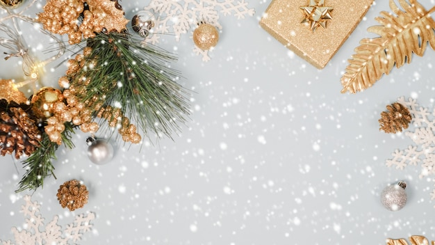 2020 christmas and new year background banner