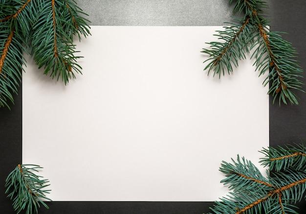 2020新年あけましておめでとうございます、メリークリスマスの装飾flatlay