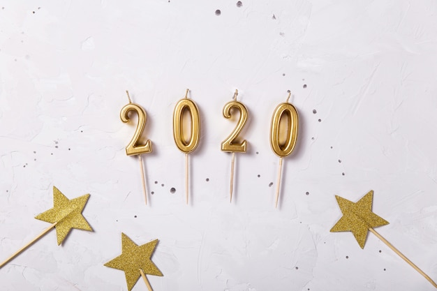 2020 holiday candles as a symbol of the new year