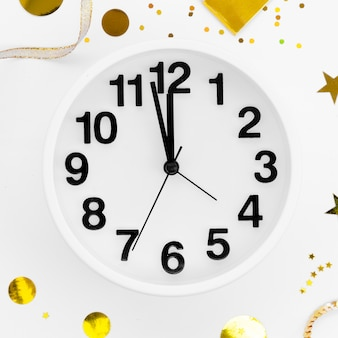 2020 new year celebration clock close-up