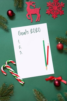2020 new year goals, planning, advent activities ,letter to santa, your wish list