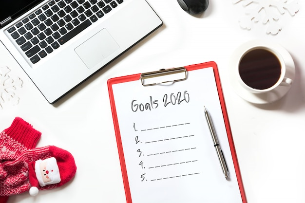 2020 new year goals, planning, dreams and wishes