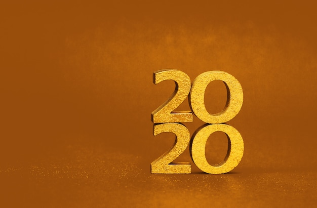 2020 new year golden number, shiny festive christmas and new year picture