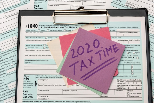 2020 tax company with reminder for tax payment