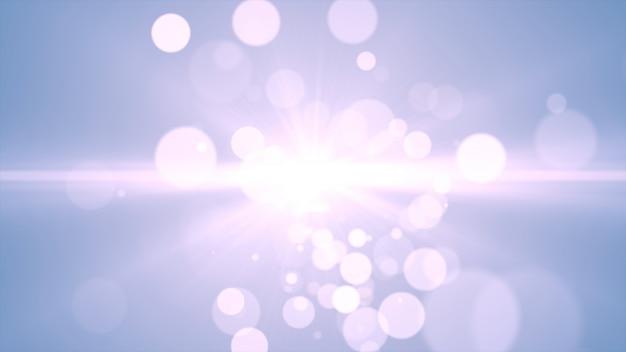 2020年。背景のボケ味。抽象的なライト。メリークリスマスの背景。白いキラキラ光。デフォーカス粒子。青色