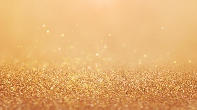 2020年。背景のボケ味。抽象的なライト。メリークリスマスの背景。ゴールドラメの光。デフォーカス粒子。金色。床