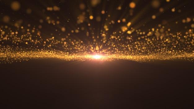 2020年。背景のボケ味。抽象的なライト。メリークリスマスの背景。ゴールドラメの光。デフォーカス粒子。金色