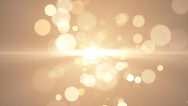 2020年。背景のボケ味。抽象的なライト。メリークリスマスの背景。ゴールドラメの光。デフォーカス粒子。黄金色フレア
