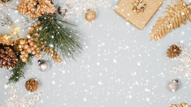 2020年のクリスマスと新年の背景バナー