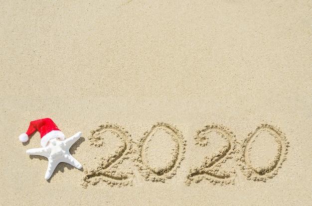2020年のビーチの背景