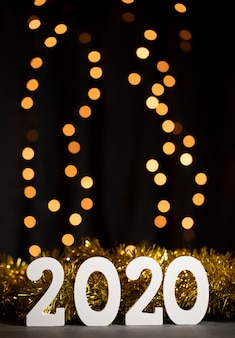 夜の2020年の新年のお祝い