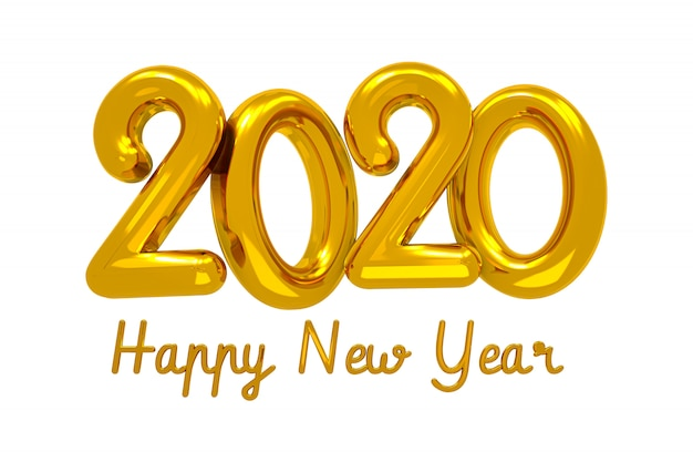 С новым годом 2020 креативная концепция дизайна, открытка