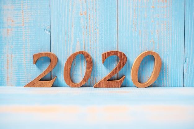 木材上の2020年の数