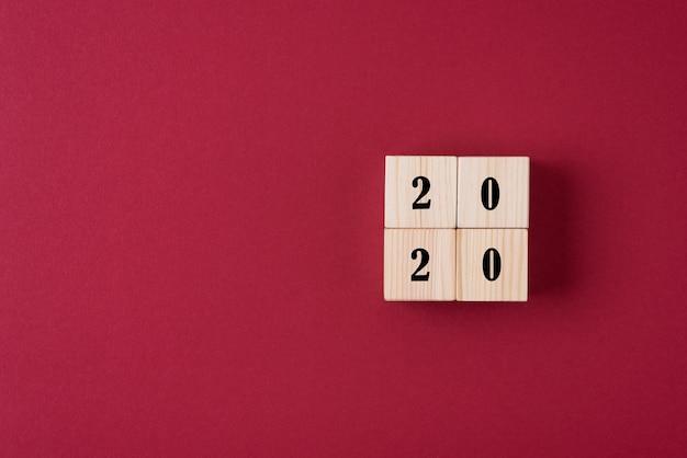 2020年の木製ブロック