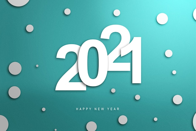 2021 on a colored background. happy new year 2021