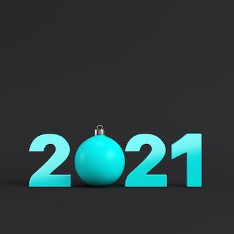 暗い背景に2021年の数字
