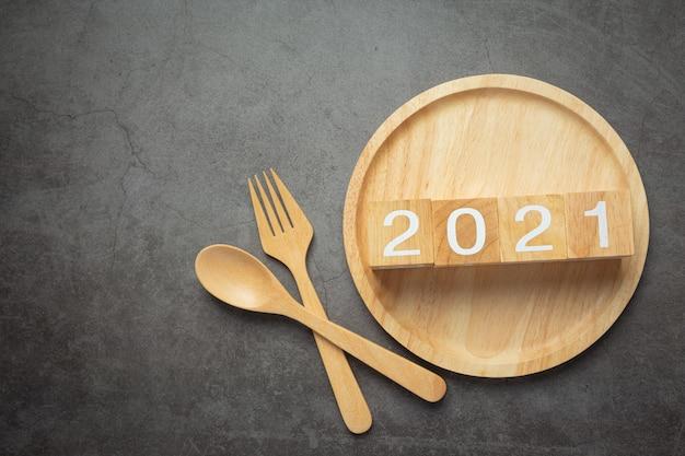2021 number lettering concept