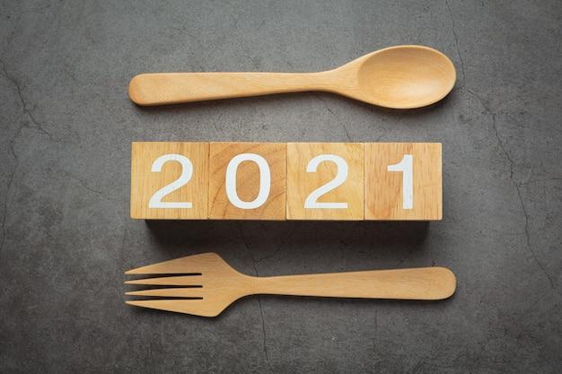 2021 numero di lettering concept