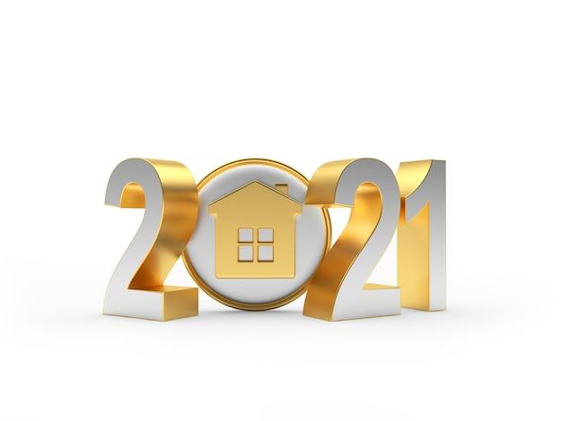 2021 числа и значок дома