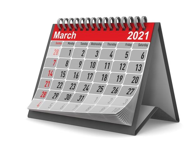 2021 год. календарь на март.