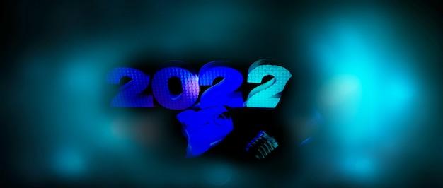2022年の電球とロケット。コンセプトスタートアップ