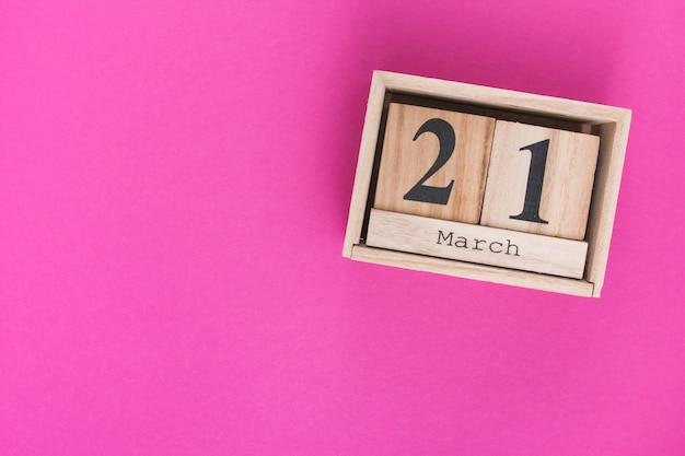 21 march inscription on wooden blocks