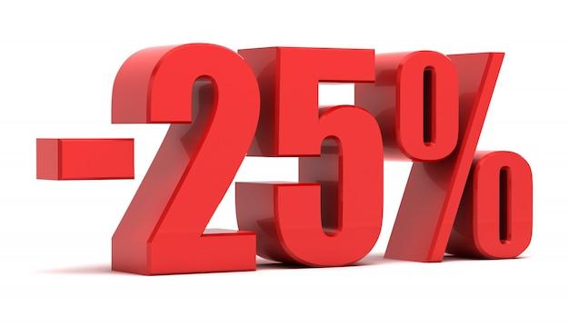 25% скидка 3d текст