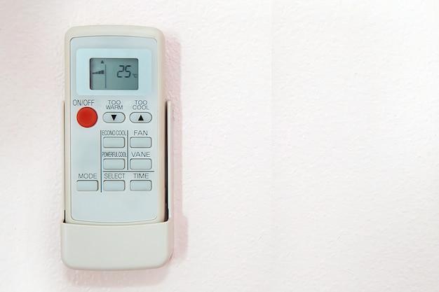 リモートコントロール空気条件25度の温度に設定