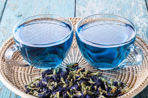 バタフライエンドウ豆茶2杯