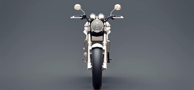 白い都市スポーツ2人乗りオートバイ