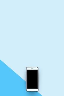 ライトブルーの背景に2つのトーンのスマートフォン