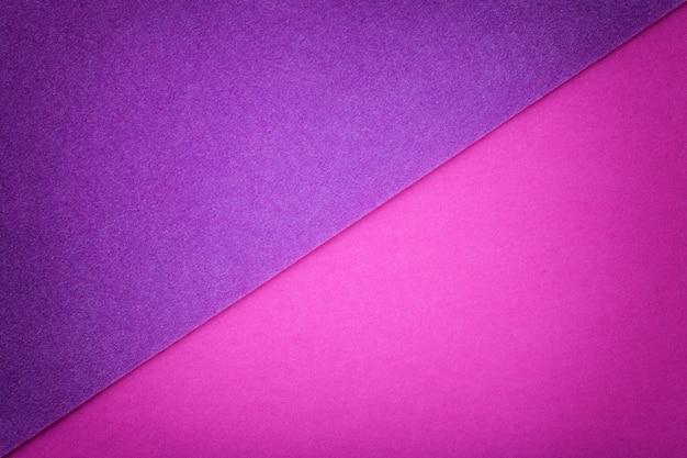 2色の背景に紫と紫の色合い。