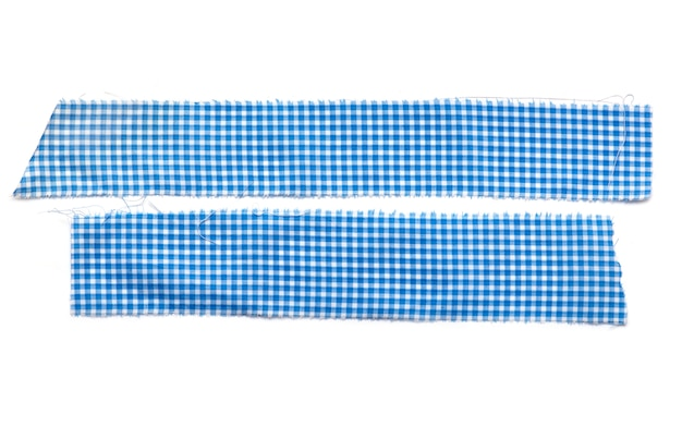 2枚の布、白い背景で隔離のフラップ布