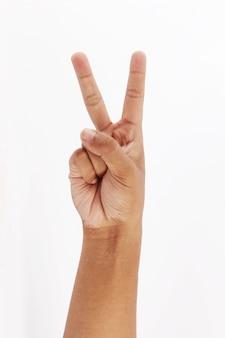2本指のシンボルを作る
