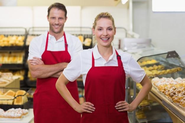 2人のパン屋の肖像