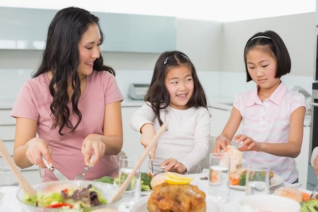 女の子、2、女の子、食べ物、台所