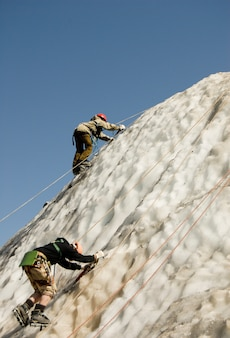 2人の登山者