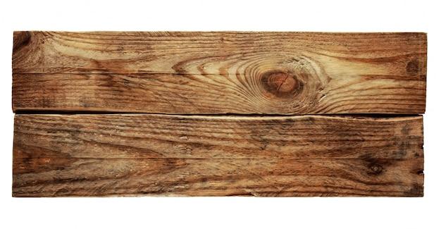 白で分離された2つの木製の板のテクスチャ。