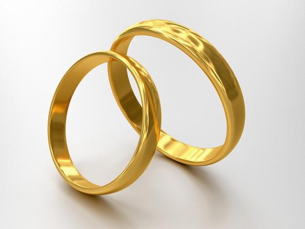 2つの結婚指輪のイラスト