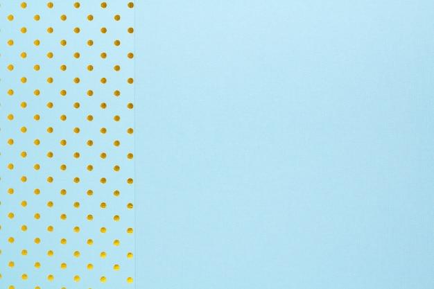 2つの青い紙で作られた抽象的な背景