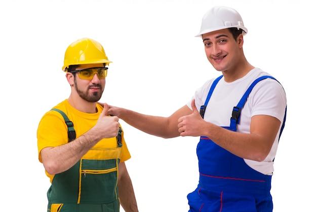 分離された2人の労働者