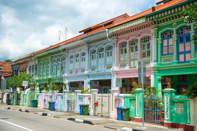 シンガポール、3月26,2017:カラフルなperanakan遺産の家、joo chiat road、シンガポール