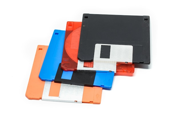 3.5-inch diskette white surface