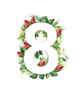 3月8日、葉、草、バラのつぼみの花から作られた。