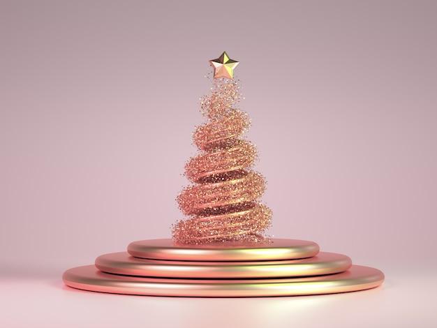 美しい豪華な新年クリスマス休暇の背景。 3 dイラスト、3 dレンダリング。 3 dイラスト、3 dレンダリング。