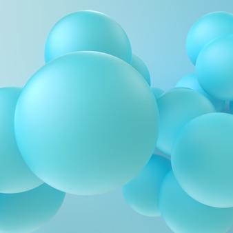 3 dレンダリング球、3 dの抽象的な背景