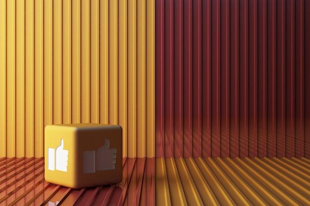 黄色のようなアイコン3 dボックス3 dレンダリング