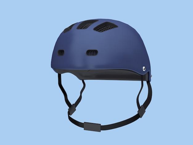 3 dブルーヘルメット柔らかい青い背景3 dレンダリング