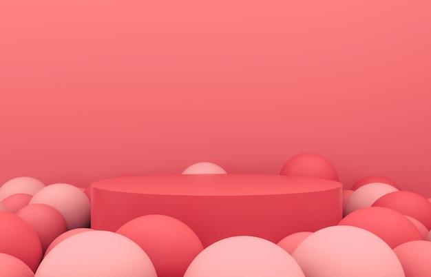 抽象的な3 d構成。製品の表示のためのファッション美容表彰台の背景。 3 dの背景。