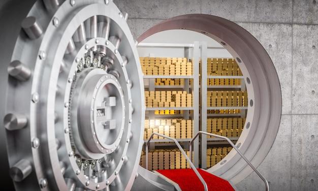 銀行の金庫室の3 d画像
